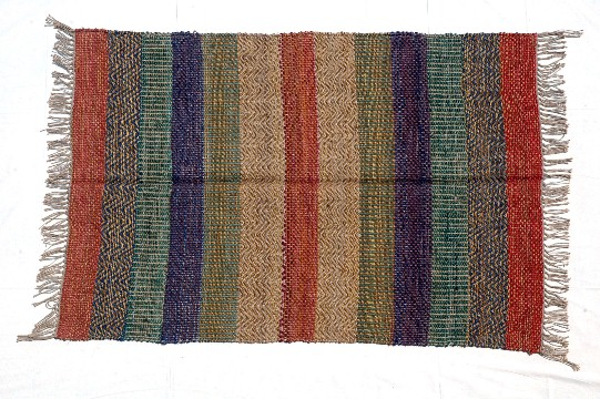 brightly color jute carpet